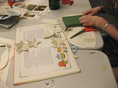 HOW Collage and Decoupage - stars and a horse