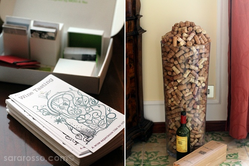 Brochures and wine corks, Vinoroma, Rome, Italy