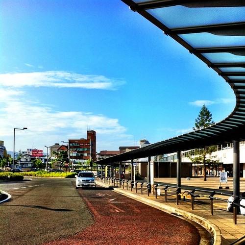 バス停からの風景。#sky