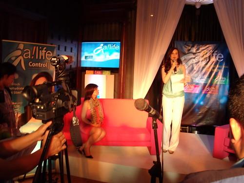 Lucy Torres-Gomez speaking on behalf of the ambassadors
