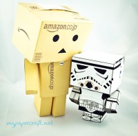 danboard with stormtrooper papercraft