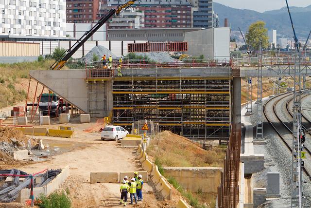 Pont del Treball - Norte - Obras Metro L9 - 08-07-2011
