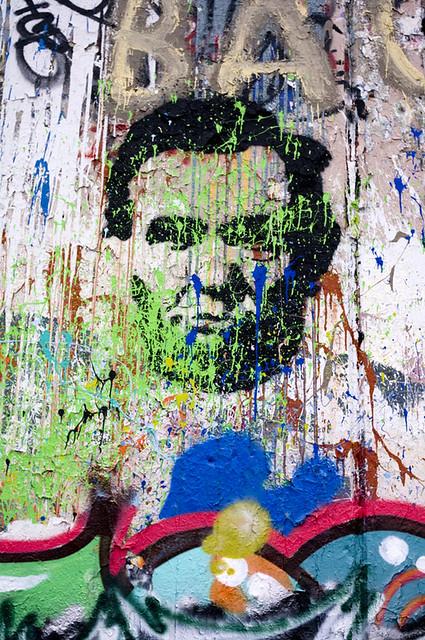 Lincoln graffiti representing.