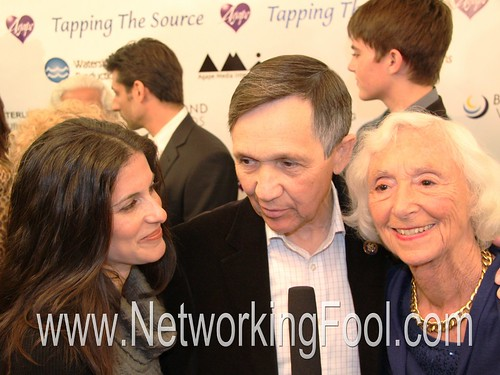 Lisa Schneiderman, Dennis J. Kucinich and Jean Houston at Tapping the Source Movie Premiere