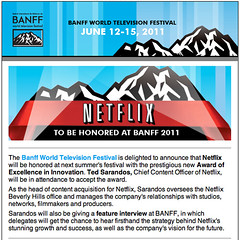 NETFLIX to Be Honored at BANFF 2011