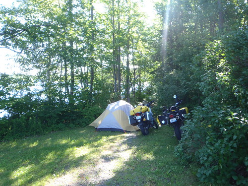 The best camping spot of the entire trip, and it was free...thanks Maine