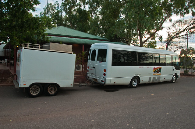 Our bus and trailer