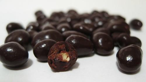 dark chocolate covered pomegranate seeds