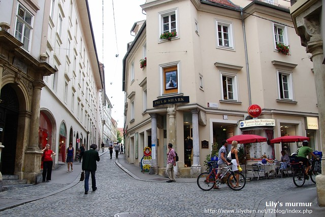 Graz的巷弄,一樣很有味道,很喜歡這裡。