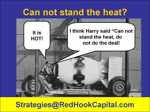 CARTOON Can not stand the heat