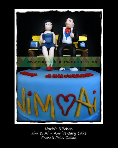 Norie's Kitchen - Jim and Ai - Anniversary Cake - Front View