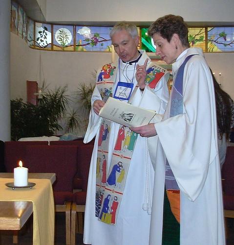 Father Steve and Bishop Katharine