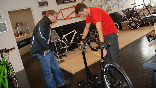 Getting Fitted For Our Santos Bikes