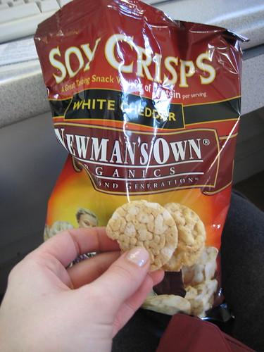 Newman Own's Organics soy crisps