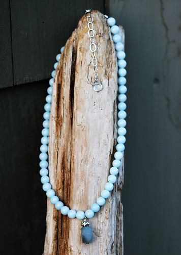 Light blue jade necklace