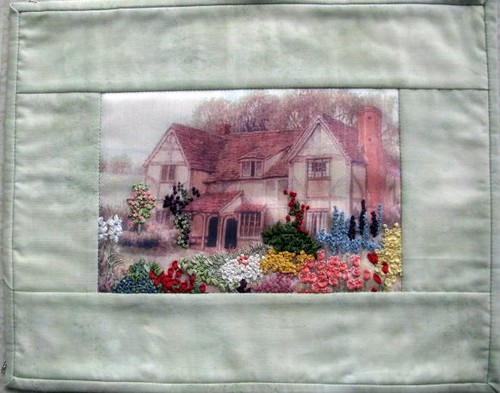 In a Cottage Garden, May Gallery Exhibit @Quiltworks