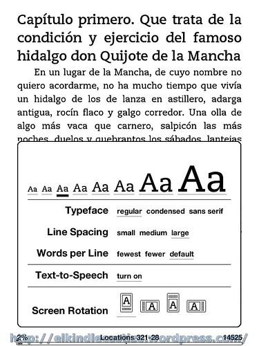 El Quijote - Tamaño de letra 3