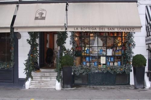 London. La Bottega del San Lorenzo