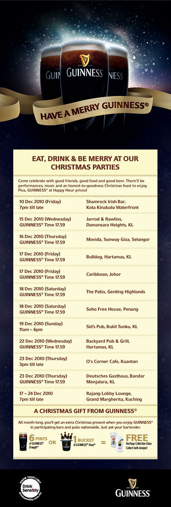 Merry Guinness Schedule