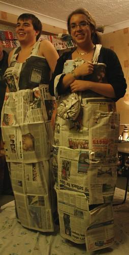 News Paper Ballgowns