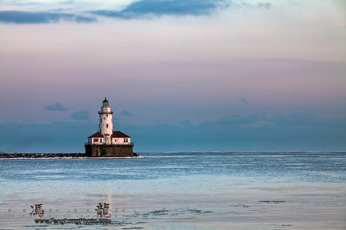 The Lonely Lighthouse at the Navy Pier in Chicago