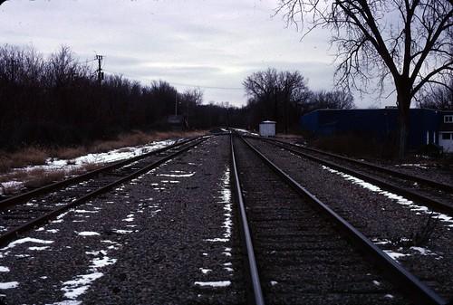 Railroad tracks in North Albany - December 26, 2010 - my final Kodachrome shots