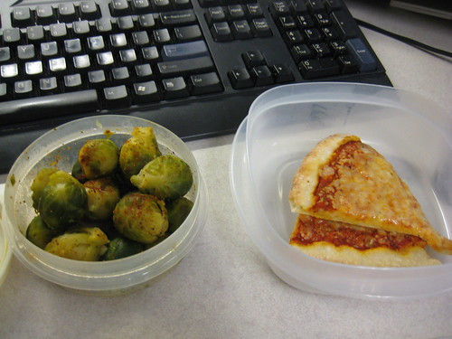 brussel sprouts and pizza