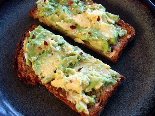 snack: avocado tartine