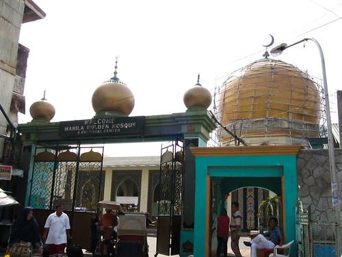 The Golden Mosque in Quiapo, Manila