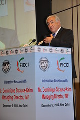 Strauss-Kahn at the FICCI, India