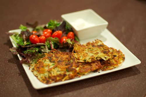 Latkes ready to eat