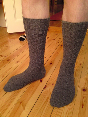 Gentleman's Sock with Lozenge Pattern