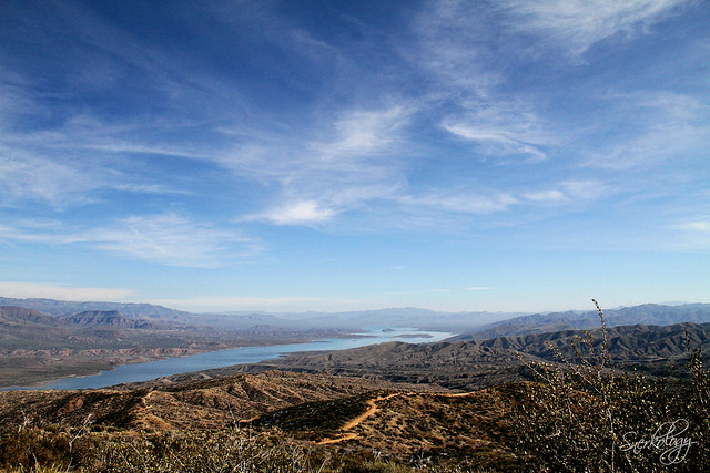 Roosevelt Lake from the apex of Four Peaks Road.