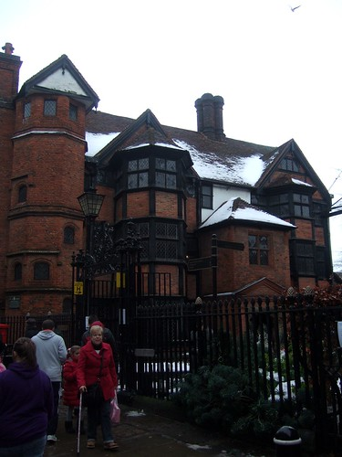 Dickens House Covered In Snow