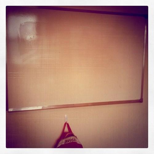 White board: 2011 is my bitch.