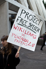 Wikileaks Protester