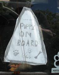 Homemade Waywoof car sticker