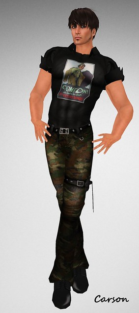 b[ELLE]issima! Cargo Pocket Camo Pants, and Muscle Tee