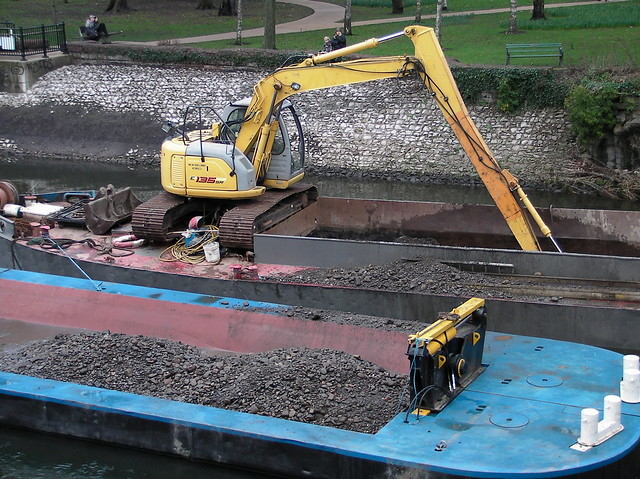 Excavation of River Taff