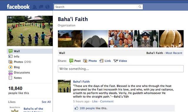 Baha'i Faith Facebook Page