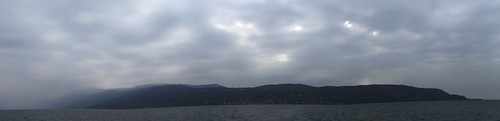 view of the hills above Torri from the ferryboat 7 mar 2011