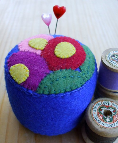 Bright Blossoms pincushion