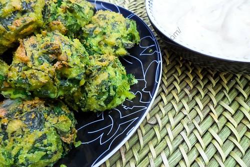 Bouchées de semoule aux épinards / Spinach Semolina Bites