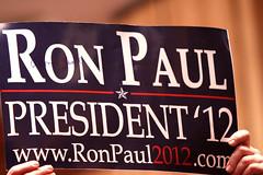 Ron Paul 2012 sign