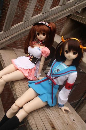 Mikuru and Suzumiya
