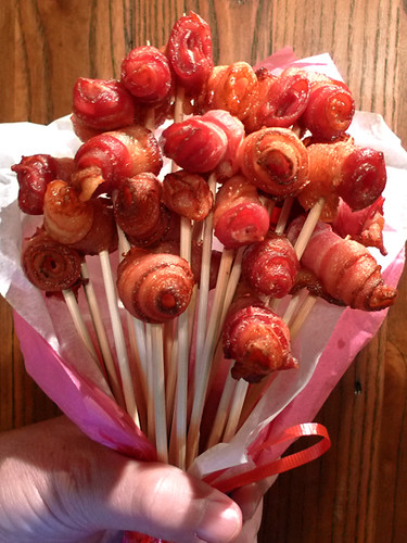 BACON Roses! (How to make) Step 6