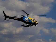 News Channel 8 helicopter fly by.