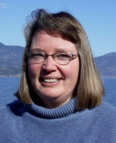 Karen Autio at Okanagan Lake