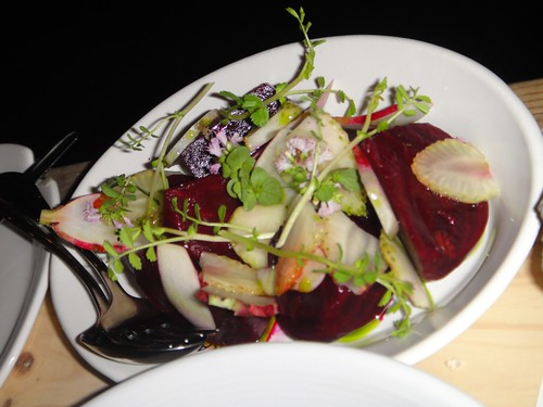 Beetroot, green strawberry saladHare and Grace, Melbourne CBD