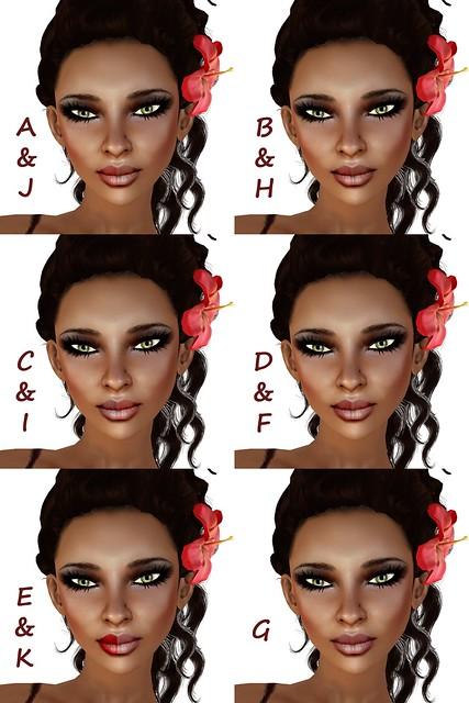 Tasia Lipstick Colors
